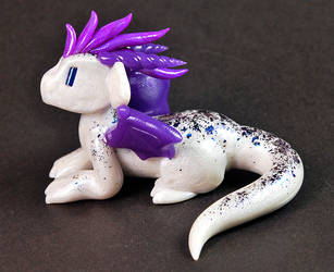 White and Purple Twitch Giveaway Dragon by HowManyDragons