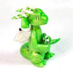 Updated August Peridot Birthstone Dragon