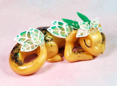 Sleeping Gold Leaf Dragon