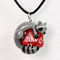 Raccoon D20 Pendant