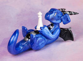 Blue Chess Dragon