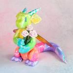 Rainbow Fairy Bouquet Dragon