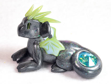 Graphite and Green Gem Dragon