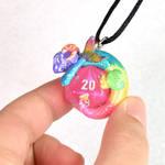 Rainbow Fairy Dice Dragon Pendant