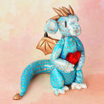 Blue and Copper Heart Dragon
