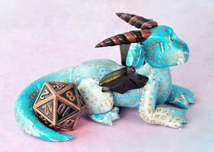 Blue and Copper Dice Dragon