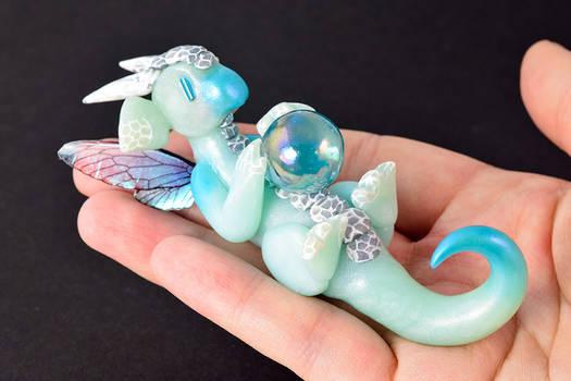 Frosty Blue Orb Dragon