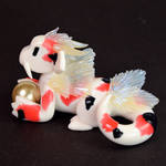 Pink Ginger Koi Fish Dragon