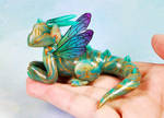 Green and Gold River Fairy Dragon