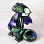 Green and Purple Chrome Gem Dragon