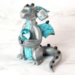 Silver Turquoise Gem Dragon