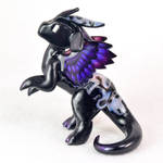 Standing Black Feathered Dragon