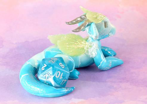 Blue Aquatic Dice Dragon