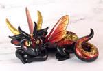 Fiery Black Fairy Dragon