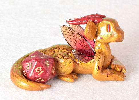 Gold and Red Fairy Dice Dragon