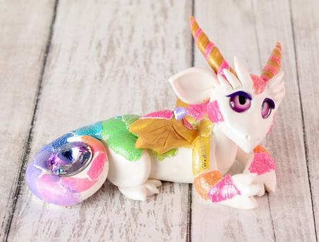 White Rainbow Gem Dragon