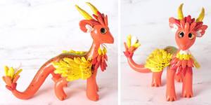 Friendly Orange Feathered Dragon