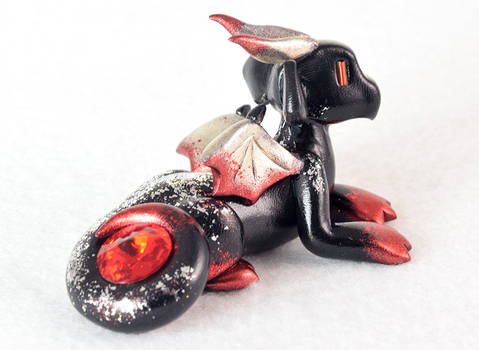 Black, Silver and Red Chrome Dragon