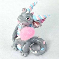 Silver Cotton Candy Dragon