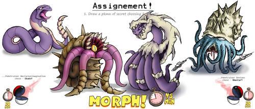 Pokemorph - 13 - Ekans vs Omastar by Nocturnalimagination