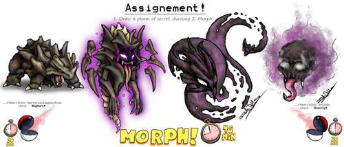 Pokemorph - 14 - Rhyhorn vs Gastly by Nocturnalimagination
