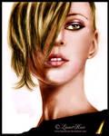 Kate Moss colored portrait
