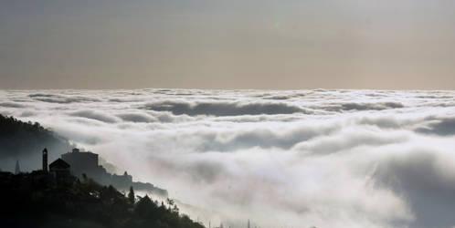 Balestrino above clouds