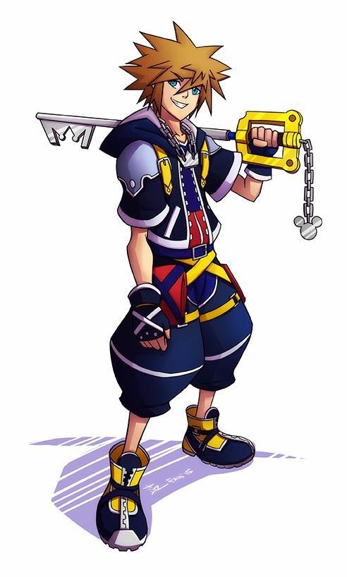 Sora - Kingdom Hearts by kawoXD