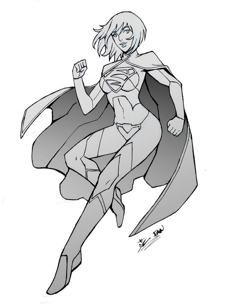 Supergirl Sketch by kawoninja