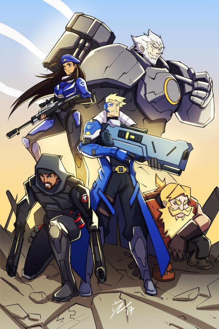 Overwatch - Original Strike Team by kawoninja