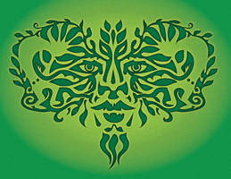 Green Man with Kokopelli by BeauW