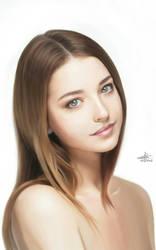 Brunette Face Portrait
