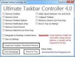Ultimate Taskbar Controller 4.0 by parassidhu