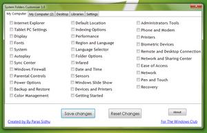 System Folders Customizer 1.0 by parassidhu
