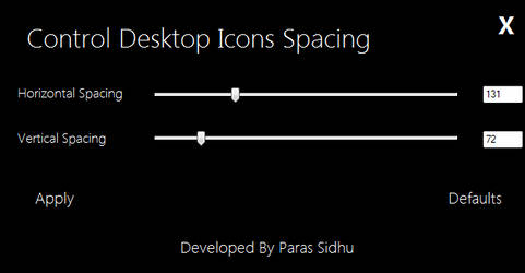 Desktop Icons Spacing Controller