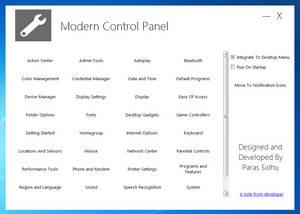 Modern Control Panel