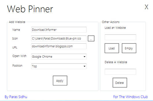 Web Pinner 1.1