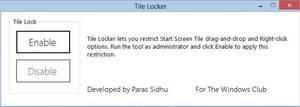 Lock Windows 8 Tiles Using Tile Locker