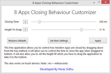 8 Apps Closing Behaviour Customizer by parassidhu