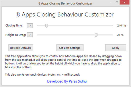 8 Apps Closing Behaviour Customizer