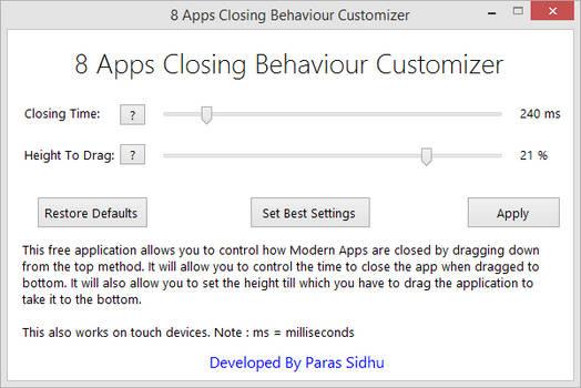 8 Apps Closing Behaviour Customizer