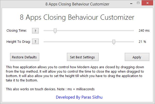 8 Apps Closing Behaviour Customizer by parassidhu