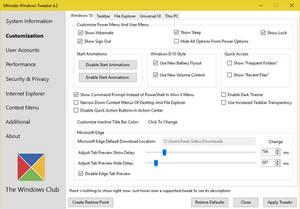 Ultimate Windows Tweaker 4.2