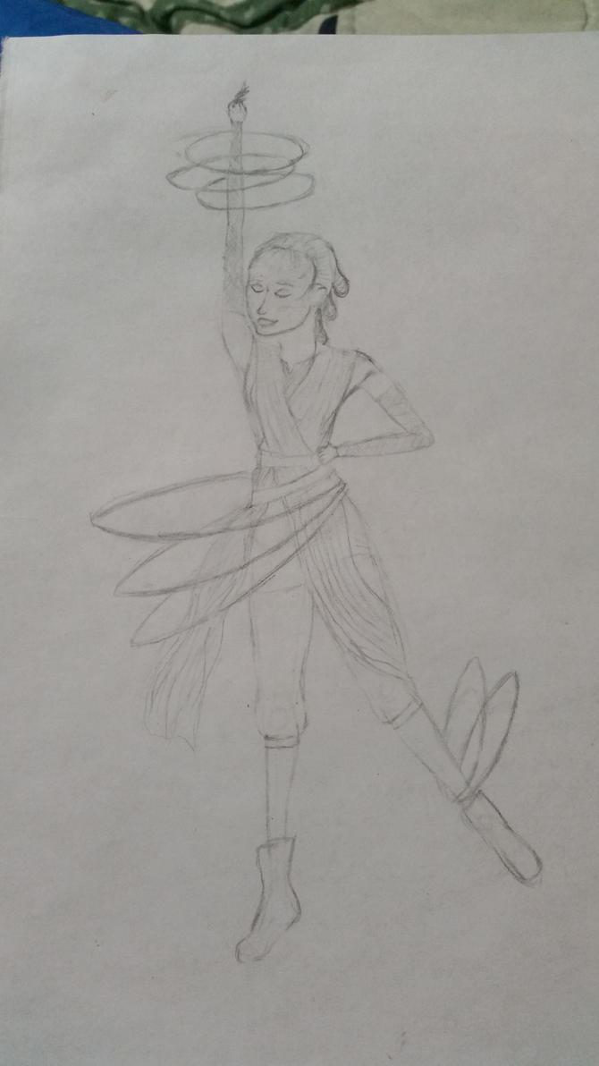 hula hooping Rey by blackparademajorette