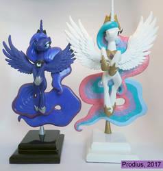 Celestia and Luna by StrayC70