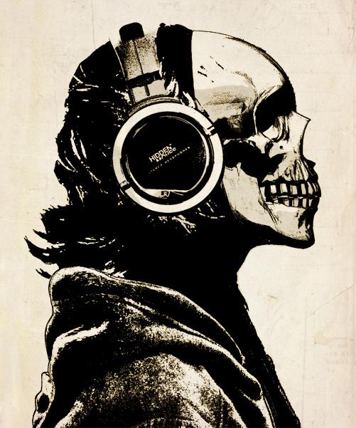 d6708ce9bd9 Skull and Headphones by hiddenmoves on DeviantArt