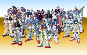 UC Gundams by fuzzychief