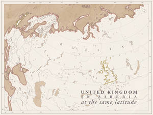 UK in Siberia at the same latitude