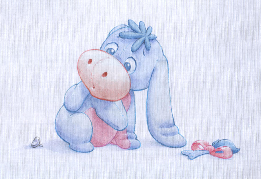 Baby Eeyore Watercolour By ShaneMadeArt