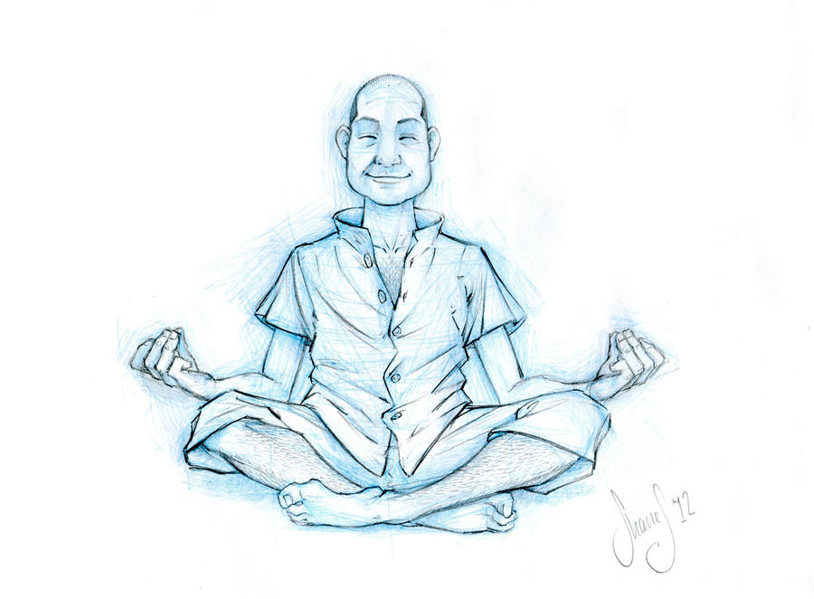Line Drawing Yoga Pose : Sketch commission yoga pose by shanemadeart on deviantart